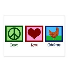 Peace Love Chickens Postcards (Package of 8)