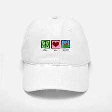 Peace Love Chickens Baseball Baseball Cap