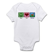 Peace Love Chickens Infant Bodysuit