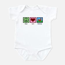 Peace Love Chickens Infant Bodysuit