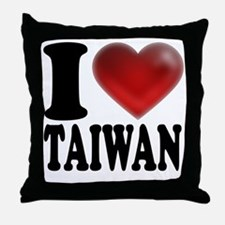 I Heart Taiwan Throw Pillow