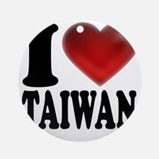 I Heart Taiwan Round Ornament