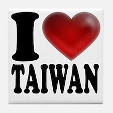 I Heart Taiwan Tile Coaster