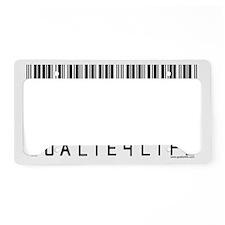 """Barcode"" License Plate Holder"
