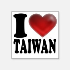 "I Heart Taiwan Square Sticker 3"" x 3"""