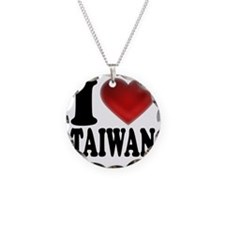 I Heart Taiwan Necklace Circle Charm