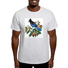 A Blue Stellers Jay in Dogwood Tree T-Shirt