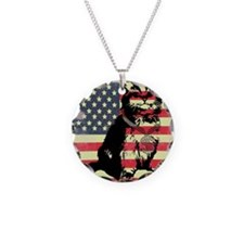 Americat Necklace Circle Charm