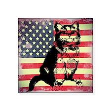 "Americat Square Sticker 3"" x 3"""