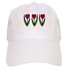 Red Tulips Baseball Cap