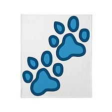 Dog Paw Prints Throw Blanket