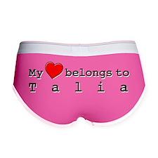 My Heart Belongs To Talia Women's Boy Brief