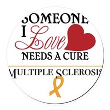 Multiple Sclerosis Round Car Magnet