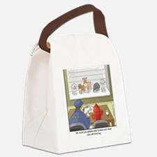 Dog Lineup Canvas Lunch Bag