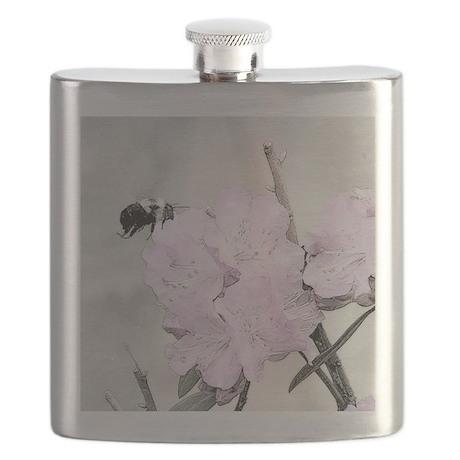 Bee Flower Flask