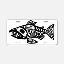 Native American Salmon Aluminum License Plate