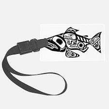 Native American Salmon Luggage Tag