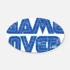 Game Over 2 Oval Car Magnet