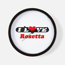 I Love Rosetta Wall Clock