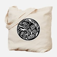 Native American Circle of Faces Tote Bag