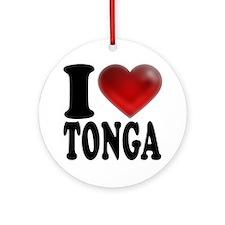 I Heart Tonga Round Ornament