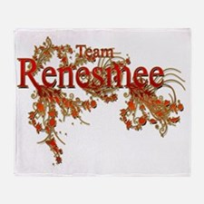 Team Renesmee Floral Twilight Saga Throw Blanket