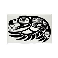 Native American Raven Sun Rectangle Magnet