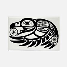Native American Raven Sun Rectangle Magnet