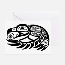 Native American Raven Sun Greeting Card