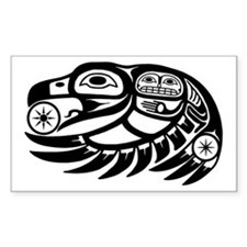 Native American Raven Sun Decal