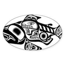 Native American Salmon Decal