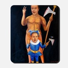 Cameron  Clegg: Bloody Cuts Mousepad