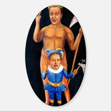 Cameron  Clegg: Bloody Cuts Sticker (Oval)