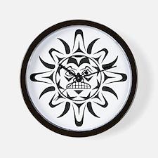 Native American Sun Wall Clock