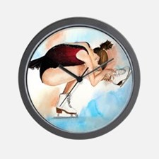 Ice Skater Sit Spin Wall Clock