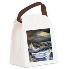 Night Surf Canvas Lunch Bag