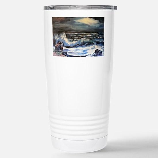 Night Surf Stainless Steel Travel Mug