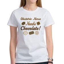Obstetric Nurse Chocolate Gift Tee