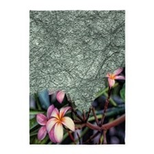 frangipani blossoms 5'x7'Area Rug