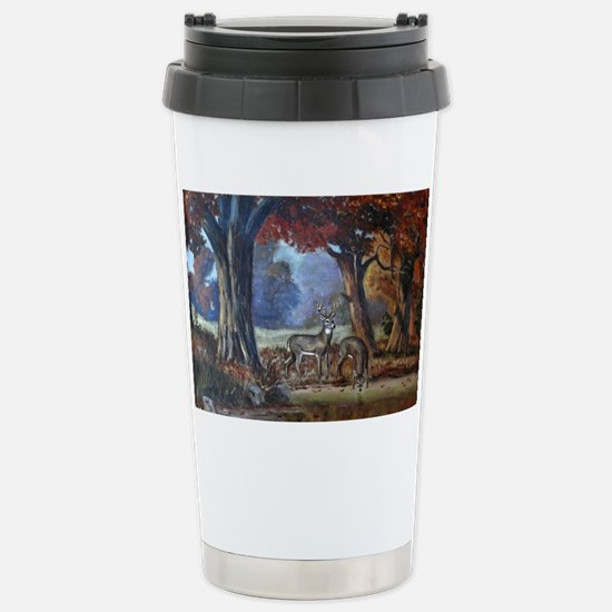 A Drink at the Pond Stainless Steel Travel Mug
