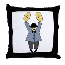 Cymbalist Throw Pillow
