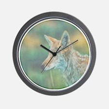 elusive coyote Wall Clock