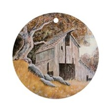 Old Barn Round Ornament