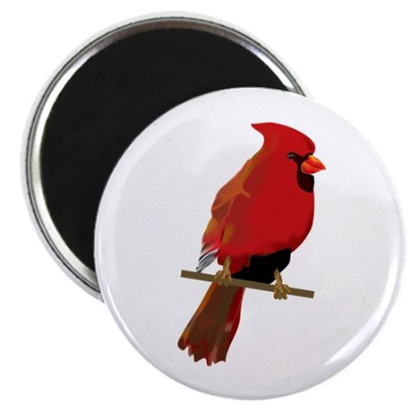 "Male Cardinal 2.25"" Magnet (10 pack)"