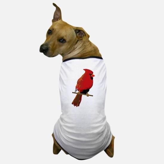 Male Cardinal Dog T-Shirt
