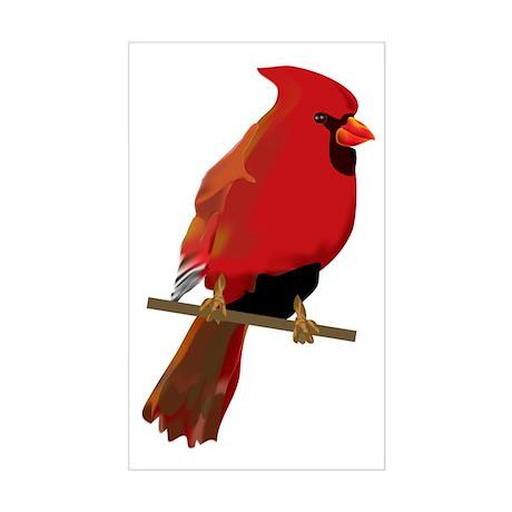 Male Cardinal Rectangle Sticker