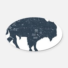 Buffalo Oval Car Magnet