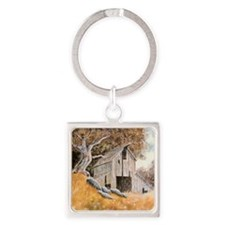 Old Barn Square Keychain