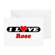 I Love Rose Greeting Cards (Pk of 10)