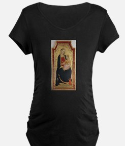 Antique Painting of Madonna and Child Maternity T-